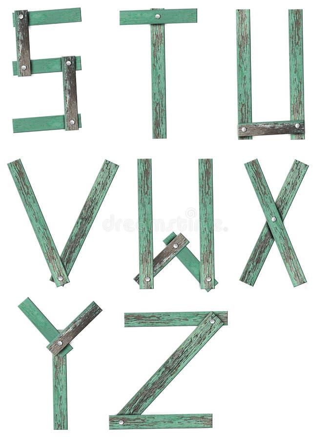 Old Grunge Wooden Alphabet