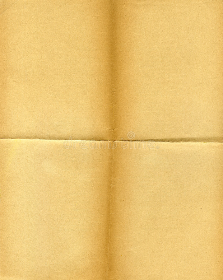 Old Grunged, Yellowed Paper Royalty Free Stock Photos