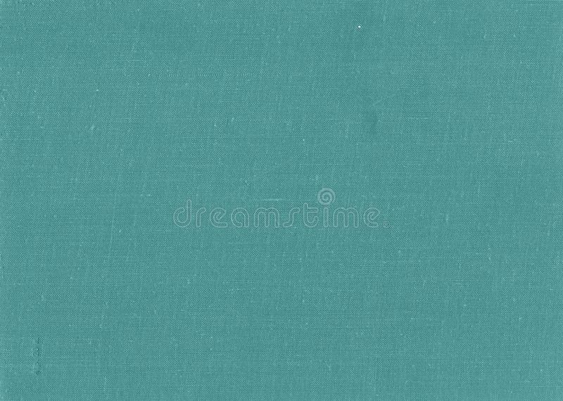 Old grungy canvas pattern with dirty spot in cyan color royalty free stock photos