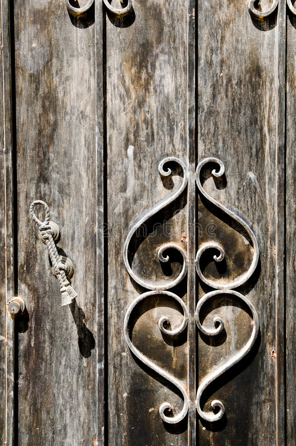 Download Old Grungy Door Detail stock image. Image of faded, material - 13850929