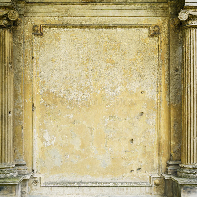 Old grungy framed wall stock photography