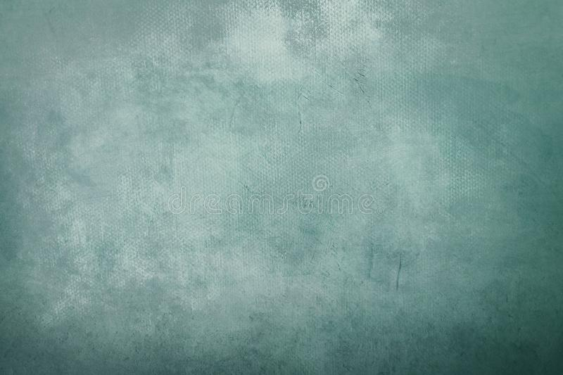 Old grungy green painting background. Abstract pale blue painting detail texture or background royalty free stock photos