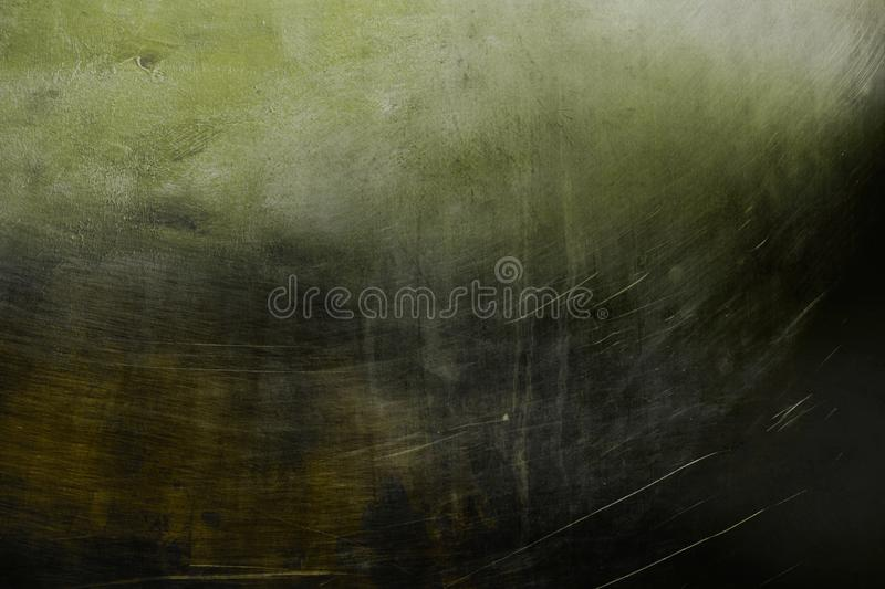 Old green metallic wall background or texture. Grungy old green metallic wall background or texture with dark vignette borders royalty free stock image