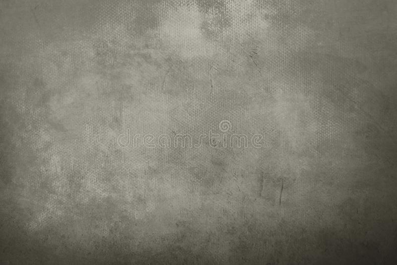 Old grungy painting background. Abstract gray canvas detail texture or background stock photos