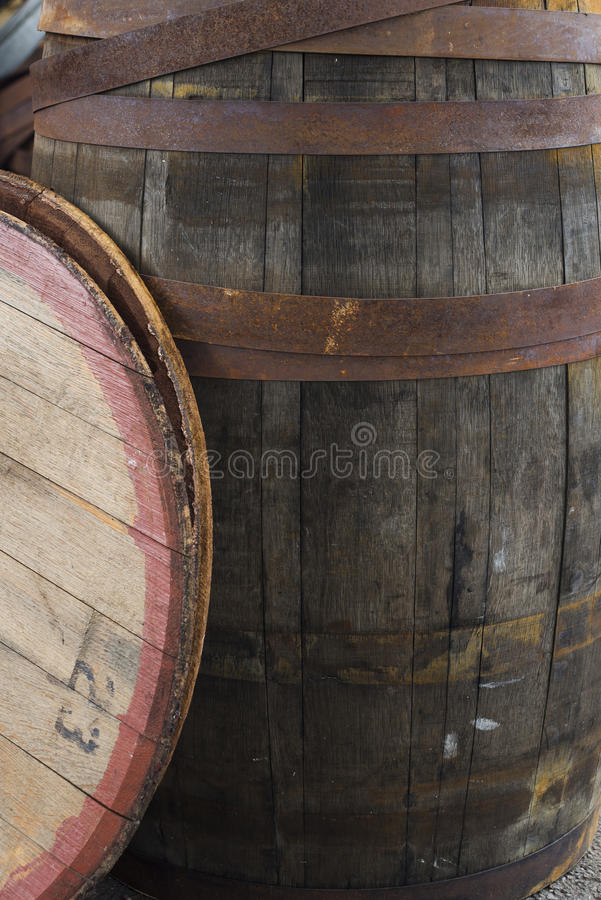Old Grungy Wine Barrel royalty free stock images
