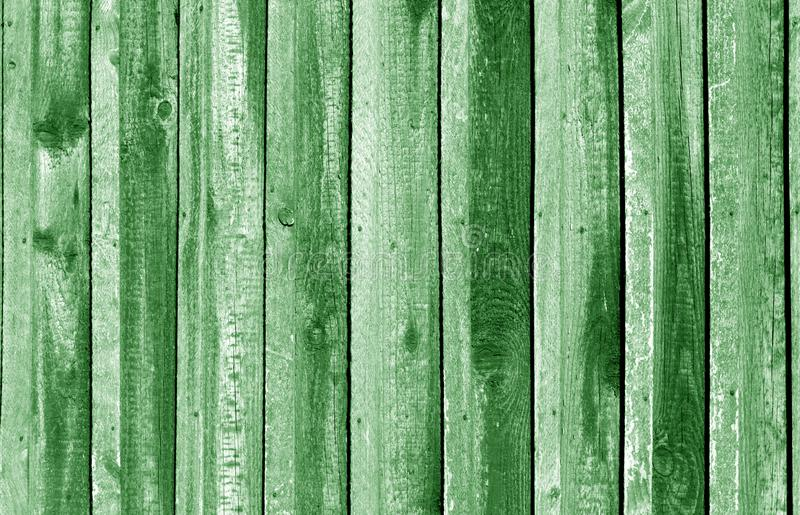 Old grungy wooden planks background in green tone. Abstract background and texture for design, color, vintage, weathered, timber, wall, tree, carpentry royalty free stock photo