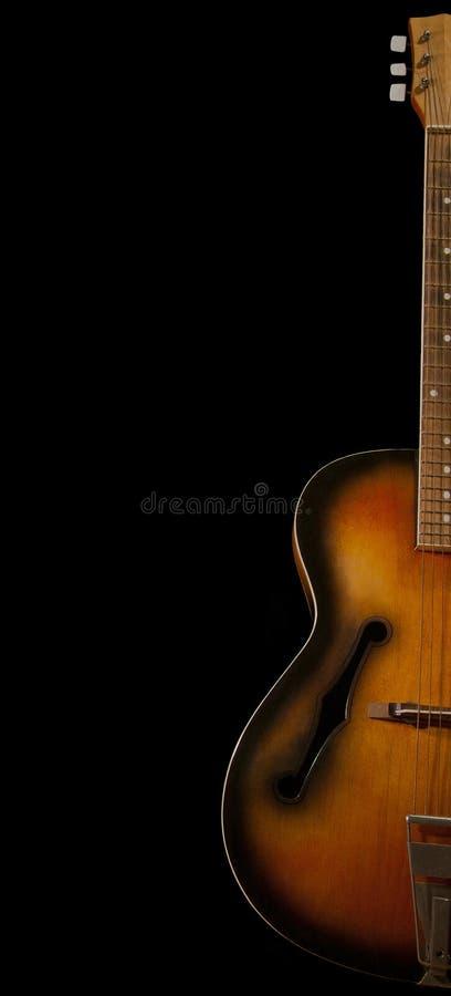 Old guitar royalty free stock photos