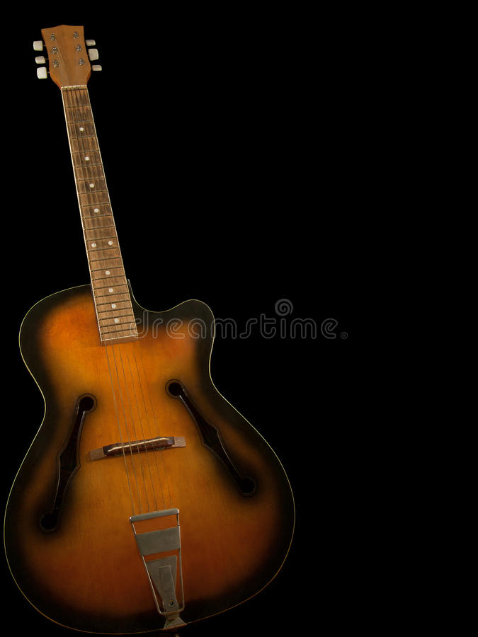 Old guitar 2 stock image