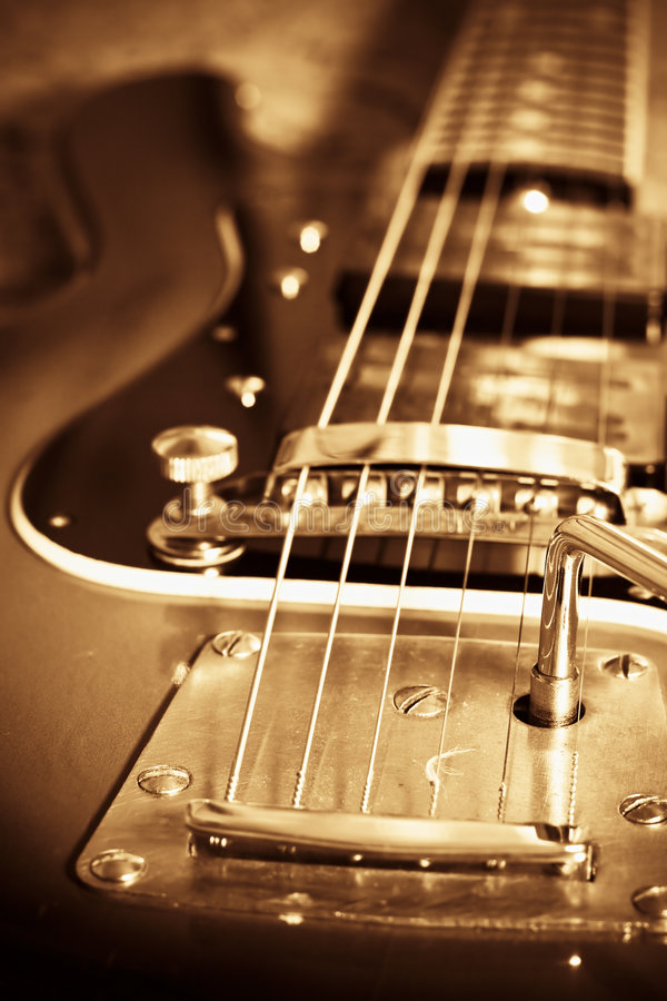 Old guitar royalty free stock image