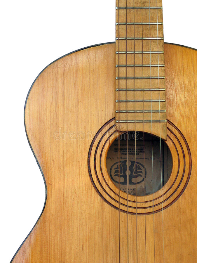 Old Guitar Stock Photography