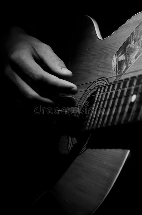 Old guitar. royalty free stock image