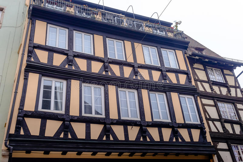 Old half-timbered houses La Petite France, Strasbourg stock photo