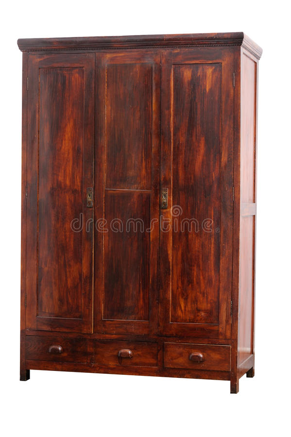 Old hancrafted cupboard royalty free stock photography