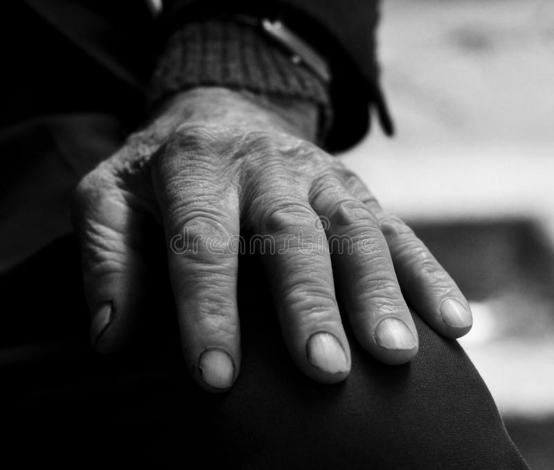 Old hand close up stock image