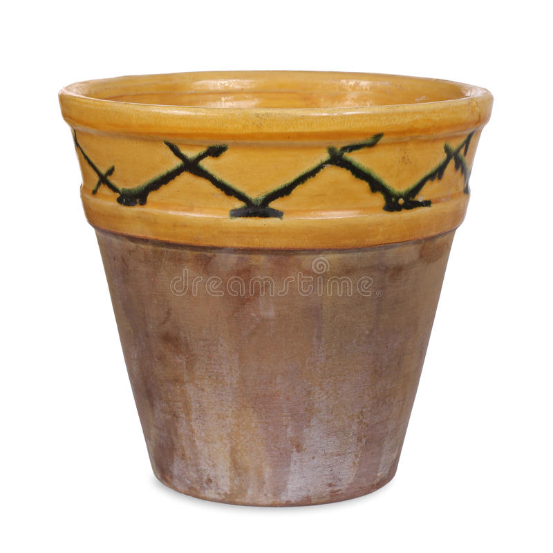 Free Old Handmade Flower Pot Stock Photography - 49245652