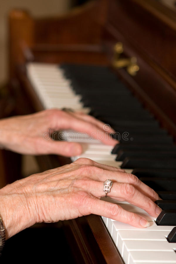 Download Old Hands Playing Piano stock photo. Image of fingers - 11777548