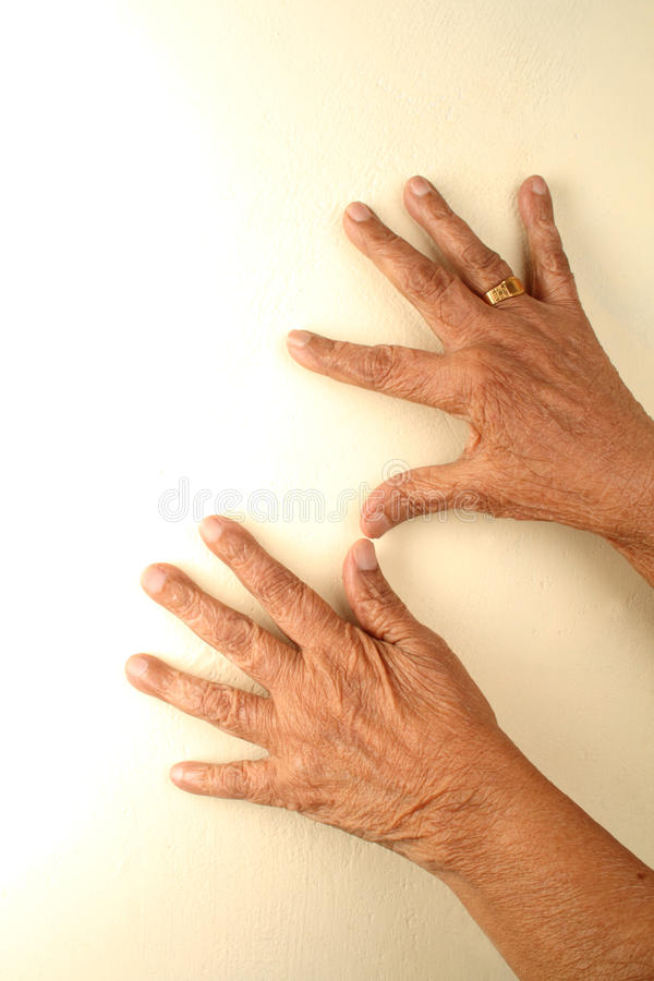 Download Old hands on walls stock image. Image of mature, wrinkle - 12968431