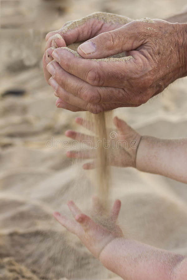 Old hands and young hands royalty free stock photos