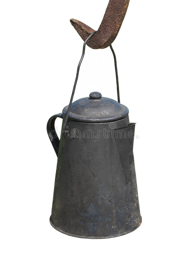 Free Old Hanging Coffee Pot Isolated. Stock Photo - 26612990