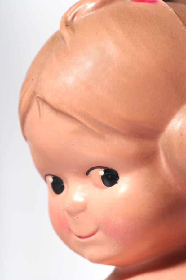 Old happy children doll portrait #2 stock photo