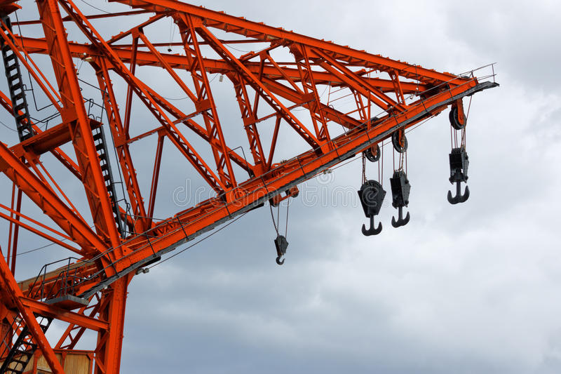 Download Old harbor crane stock photo. Image of lifting, harbour - 25636446