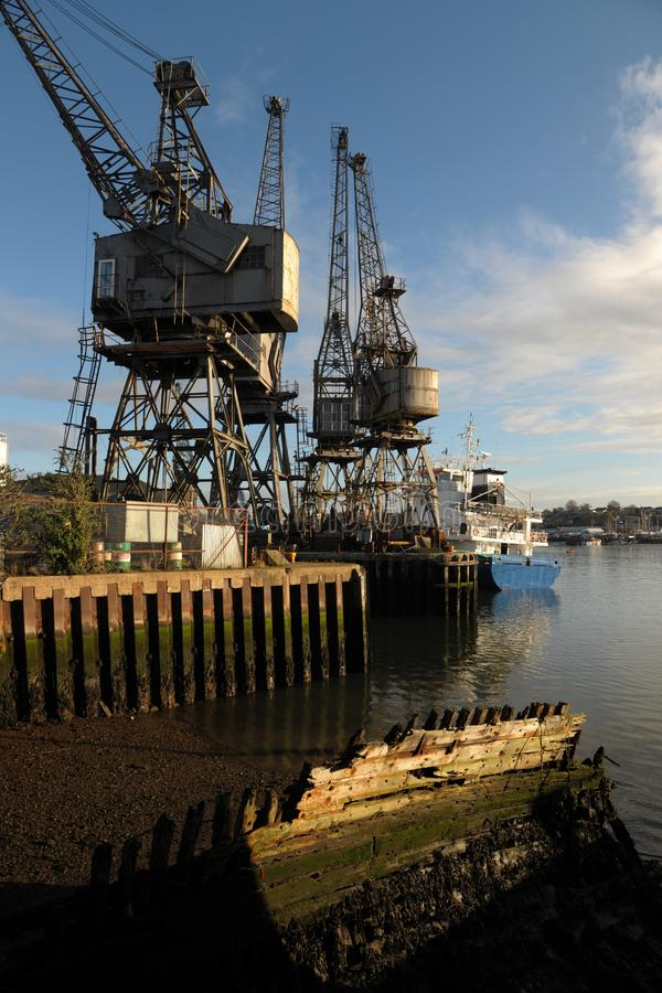 Old harbour with cranes
