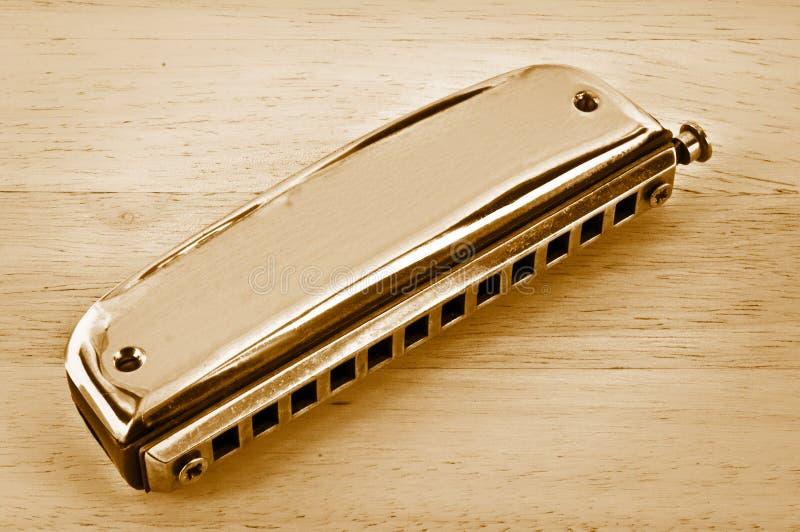 Old harmonica. royalty free stock photo