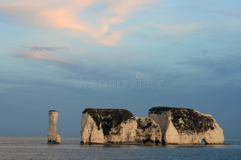 Old Harry Rocks, Swanage royalty free stock photography