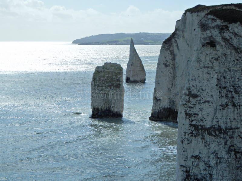 Old Harry Rocks, UK. Old Harry Rocks and surrounding nature stock image