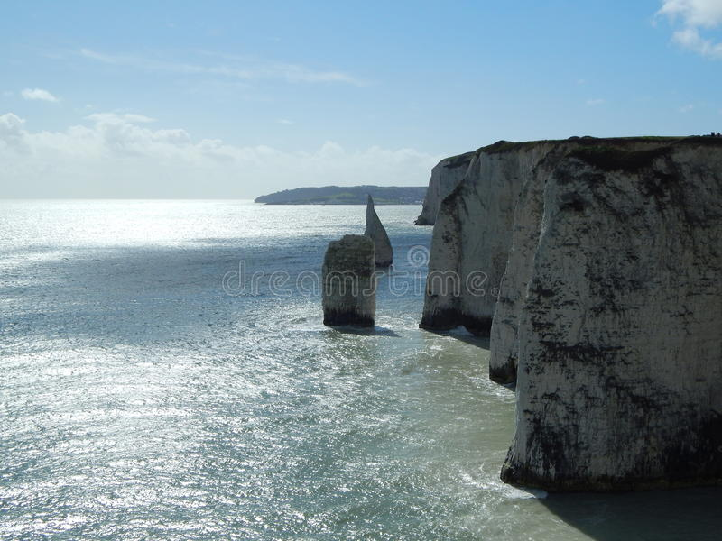 Old Harry Rocks, UK. Old Harry Rocks and surrounding nature royalty free stock images