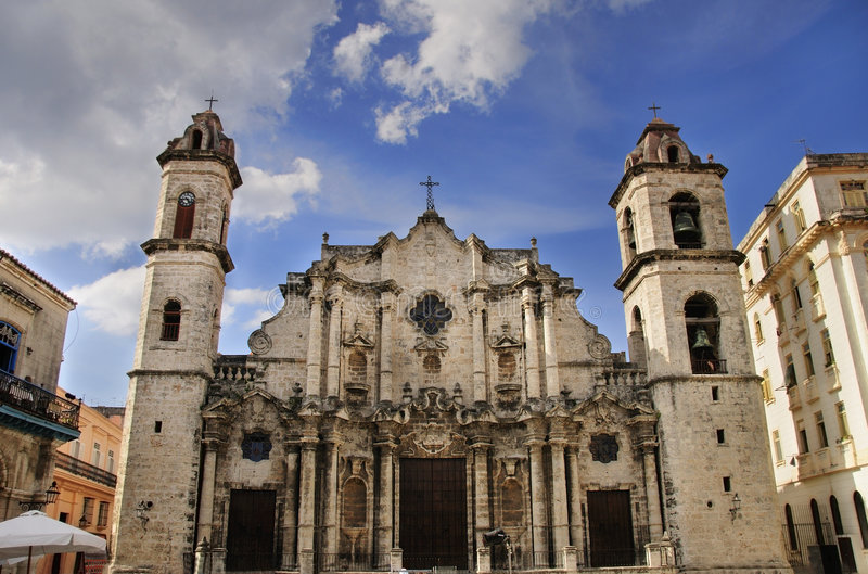 Old havana Cathedral. A view of Old Havana Cathedral, cuban landmark royalty free stock images