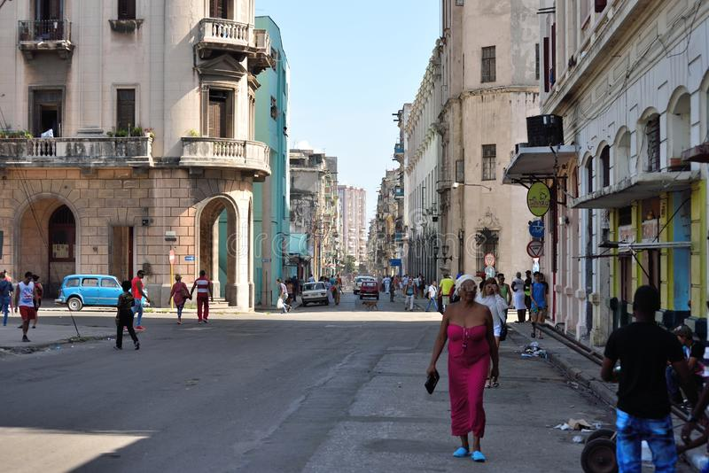 Old Havana streets. Old Havana is the city-center downtown and one of the 15 municipalities or boroughs forming Havana, Cuba. It has the second highest stock images