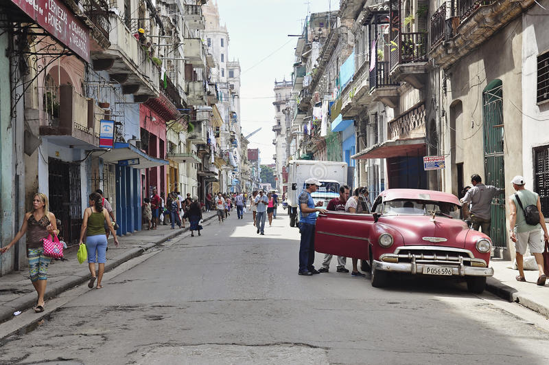 Old Havana, Cuba. Beautiful Havana city, the capital of Cuba