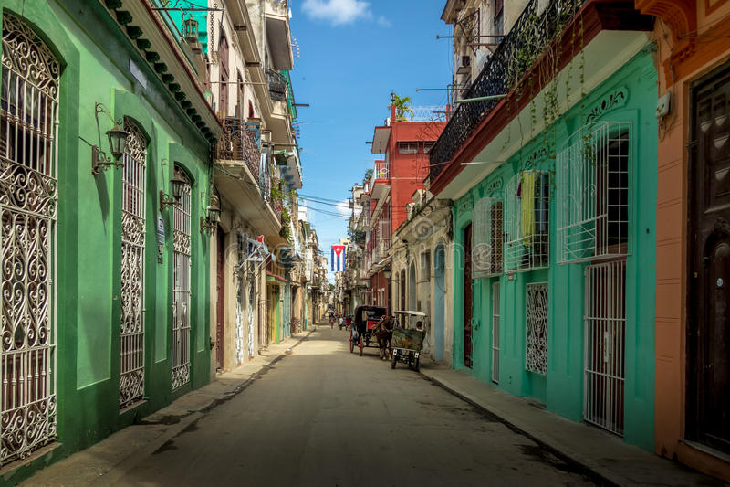 Old Havana downtown Street - Havana, Cuba stock photos