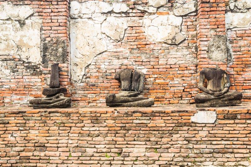 Old headless Buddha statue  at Wat Mahathat Ancient Temple in Ayutthaya Historical Park  Thailand royalty free stock photos
