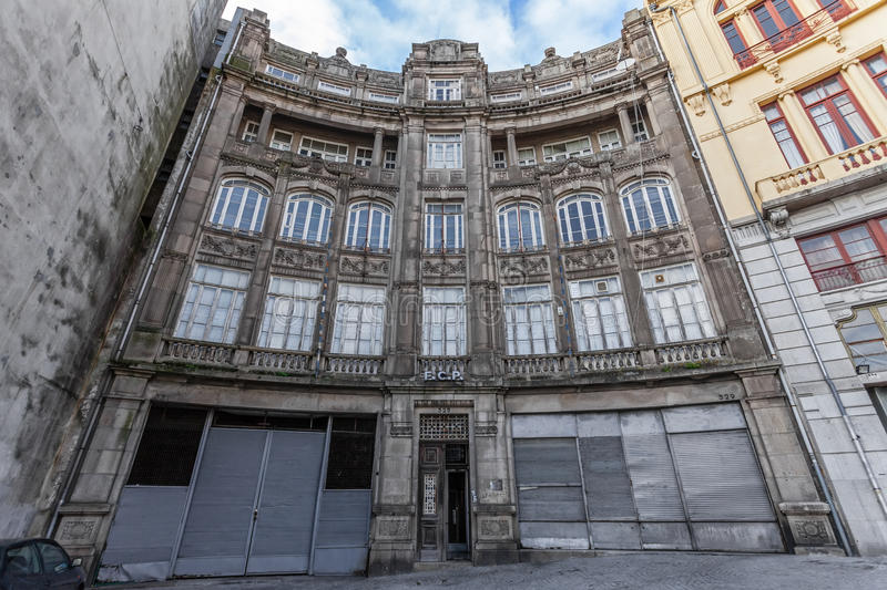 The old headquarters of the world famous soccer team of Futebol Clube do Porto stock images