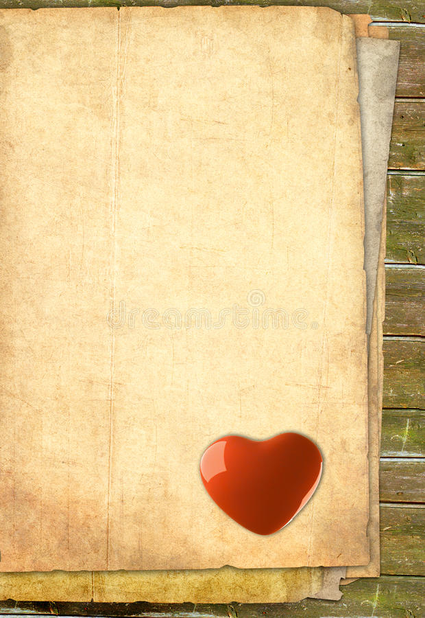 Free Old Heart Paper - Background Stock Photo - 17790630