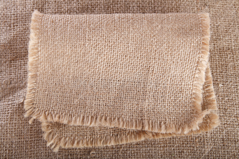 Old hessian cloth background. Sack path royalty free stock photo