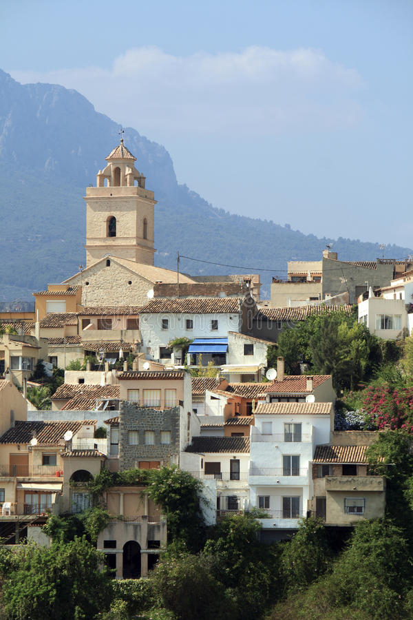 Old Hilltop village. Architecture of the mountain villages of western spain