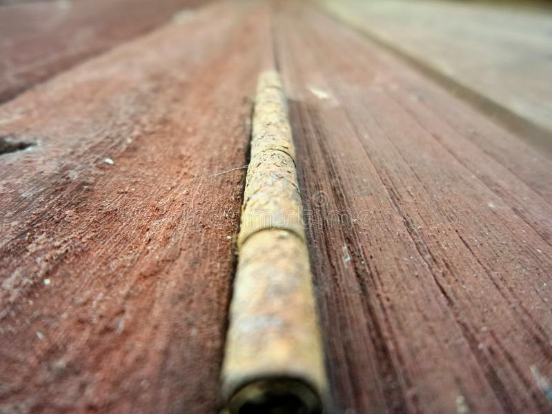 Rust on hinge. stock images