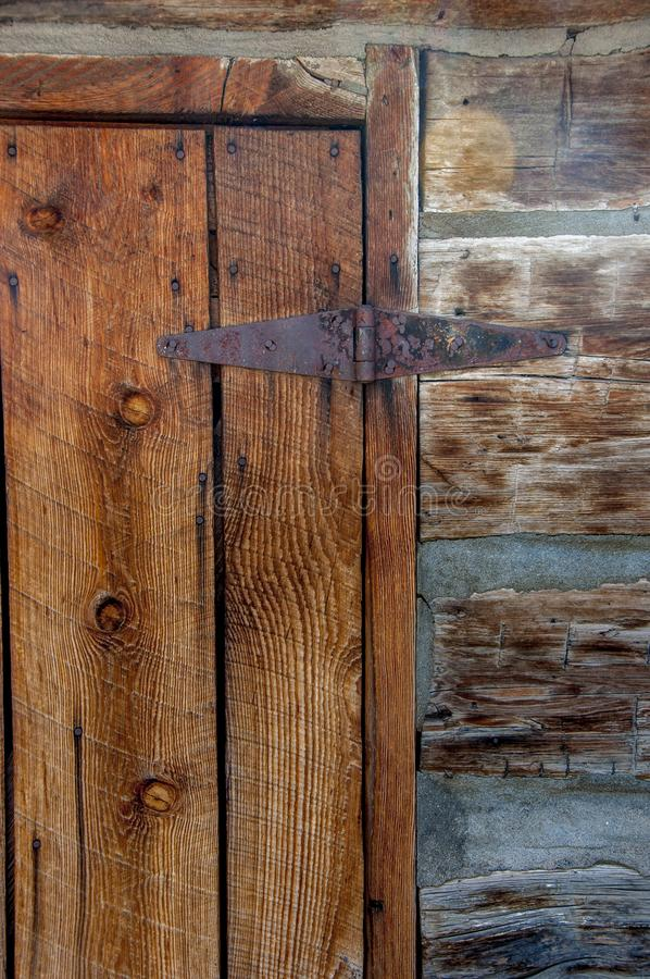 Old Hinged Wooden Door stock photography