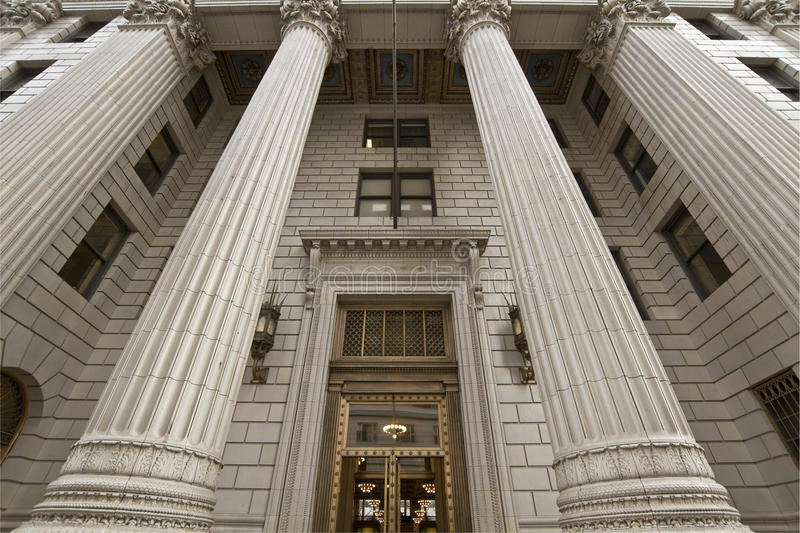 Old Historic Bank Building royalty free stock image