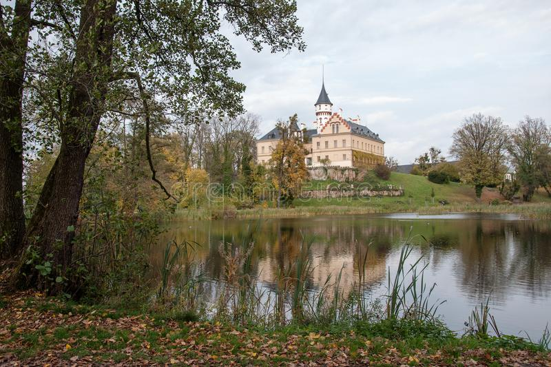 Old and historic castle Radun in Czech republic royalty free stock photo