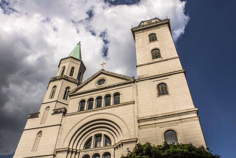Old historic church in Germany. Zittau stock photos