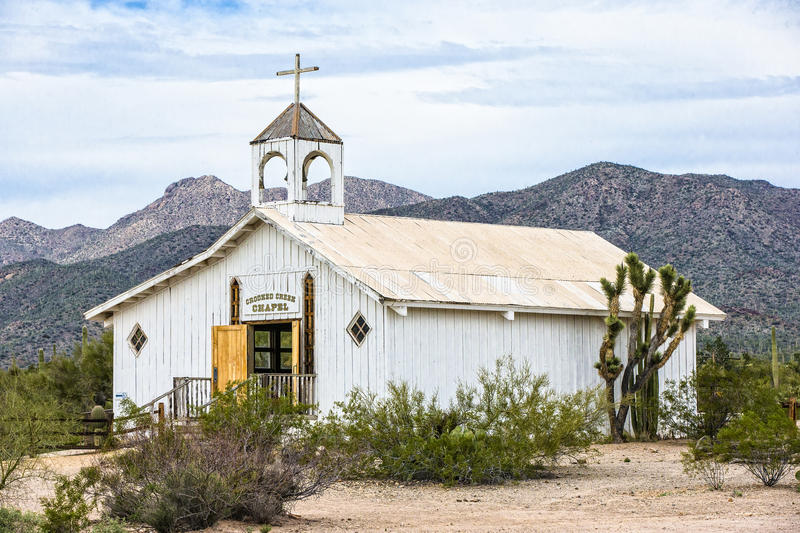 Old historic church. From the wild west days royalty free stock photography