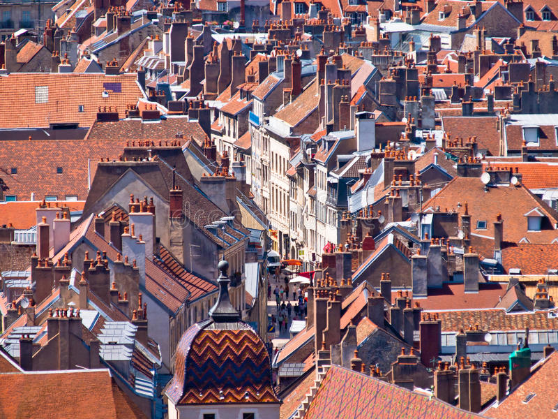 Old Historic City. Town Overview of a Medieval European City royalty free stock images