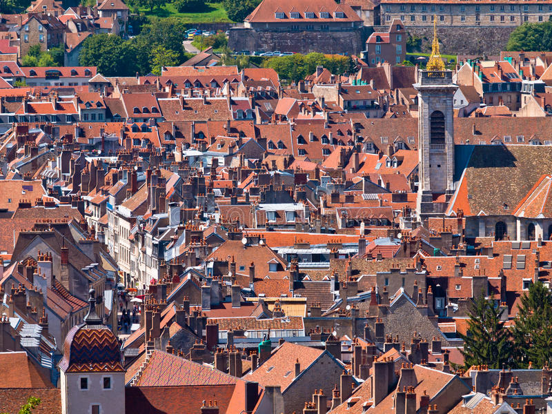 Old Historic City. Town Overview of a Medieval European City stock photo
