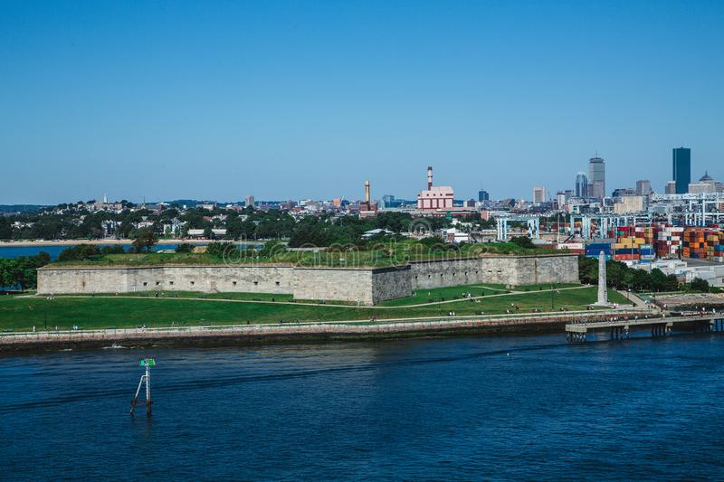 Fort Independence in Boston. The old Historic Fort Independence in Boston royalty free stock photo