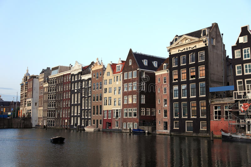 Old historic houses in Amsterdam. royalty free stock photography