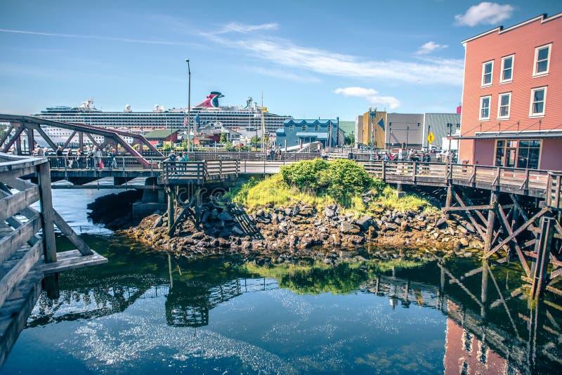 Old historic town of ketchikan alaska downtown royalty free stock photos